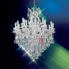 Aliexpress.com : Buy Free shipping beautiful chrome crystal chandeliers 19 lights dining room chandelier with crystal balls C9102 90cm W x 114cm H from Reliable crystal chandelier suppliers on HK SUNWE LIGHTING CO., LTD.