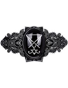 Nouveau produit : Lucifer silver Hairclip barette Occult jewellery Gothic Leviathan cross restyle Vous aimez ? / New product do you like ? Prix: 19.90 #new #nouveau #japanattitude #barrettes #gothique #gothic #occulte #occult #hairclips #clips #hair #metal #silver #black #witch #restyle #symbols #accessory #esoteric #satanic #goth #nugoth #hell