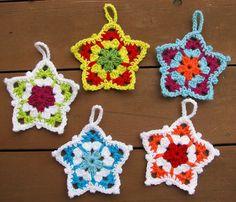 Ravelry: dakotastamper's Granny Star Ornaments