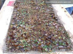 How to embed glass in concrete countertops