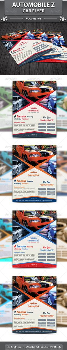 Automobile Business Flyer | Volume 2 — Photoshop PSD #car showroom #race • Available here → https://graphicriver.net/item/automobile-business-flyer-volume-2/6138618?ref=pxcr