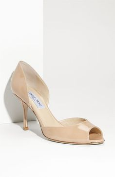 jimmy choo logan d'orsay patent in nude. continuing the search for lowish heels that are still pretty. Bridal Shoes, Wedding Shoes, London Shoes, Shoe Gallery, White Pumps, Jimmy Choo Shoes, Blue Shoes, Beautiful Shoes, Shoe Collection
