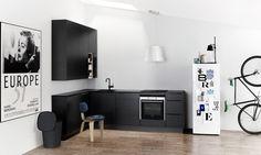 Kvik Kitchen Dining, Kitchen Cabinets, Black Kitchens, Locker Storage, House, Furniture, Home Decor, Parties, Fiestas