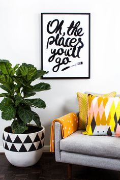 Living Room Inspiration for all you Design Junkies My Living Room, Home And Living, Living Spaces, Living Area, Ficus Lyrata, Home Theather, Interior Desing, Interior Modern, Fiddle Leaf Fig