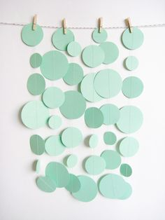 Mint Green Paper Garland by MintAfternoon on Etsy