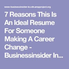 Reasons This Is An Ideal Resume For Someone Making A Career