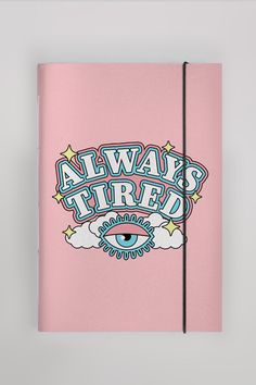 Always Tired, Notebook Cover Design, Cool School Supplies, Art Drawings Beautiful, Too Cool For School, Stationery, Design Inspiration, Lettering, Armani Sweatshirt