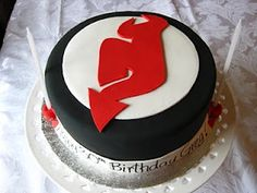 The best part of a 30th birthday is a New Jersey Devils 30th birthday cake.