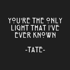 Image via We Heart It https://weheartit.com/entry/168368173 #couple #grunge #love #quotes #evanpeters #americanhorrorstory #taissafarmiga #munderhouse