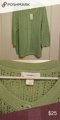 CJ Banks cardigan sweater 2x NWT Light green cardigan sweater. NWT CJ Banks Sweaters Cardigans