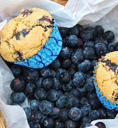 World's Best JUMBO Vanilla Blueberry Muffins Ever (8 ingredients, GF, Oil-Free!)