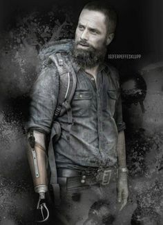 Fan made poster of Rick without his hand