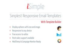 iSimple - responsive email template by guiwidgets templates on @creativemarket