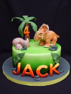 Walking With Dinosaurs - Cake by Elizabeth Miles Cake Design