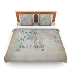 Explore world map comforter or duvet cover twin twin xl full found it at wayfair supply journey by catherine holcombe world map featherweight duvet cover gumiabroncs Image collections