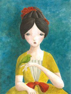Girl with Bird...by BarnumsWinter