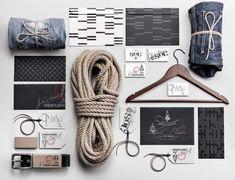 Sons of Christiania: True Scandinavian Menswear Brand — The Dieline - Branding & Packaging Design Brochure Inspiration, Packaging Design Inspiration, Fashion Packaging, Brand Packaging, Identity Design, Brand Identity, Visual Identity, Old Fashioned Fonts, Custom Printed Boxes
