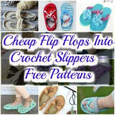 37909aef9907 I have brought 20 of the best crochet slippers and flip-flops for your  inspiration