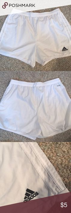 Adidas Climacool Athletic Shorts White Adidas climacool athletic shorts in white. Size medium adidas Shorts