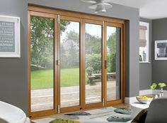 Prestige External Folding Sliding Doors 3M (10ft) Pre-Finished Solid Oak
