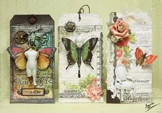 Incredible use of Sizzix Texture Fades by Ingvild Bolme: Steampunk or Shabby Chic?