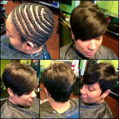 American and African Hair Braiding : pixels - Beauty Haircut Short Weave Hairstyles, Pretty Hairstyles, Girl Hairstyles, Black Hairstyles, Cut My Hair, Love Hair, Gorgeous Hair, Short Hair Cuts, Short Hair Styles