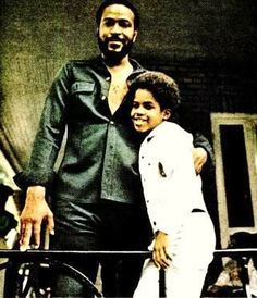 Marvin Gaye and his son  #African-American #race