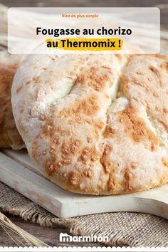Fougasse au choziro au Thermomix. Le robot idéal pour réussir cette délicieuse recette de fougasse #fougasse #marmiton #recette #thermomix #robot #chorizo #apero