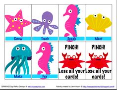 Crazy Speech World  Deep Sea Diving for Verbs-uses cute sea animals in a game targeting irregular past tense verbs! Repinned by  SOS Inc. Resources.  Follow all our boards at http://pinterest.com/sostherapy  for therapy resources.