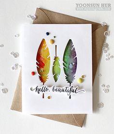 Hello Beautiful card by Yoonsun Hur