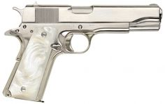 Beautiful. just beautiful. forget pink, I want something classy and timeless. Nickel-plated Rock Island Armory M1911A1 w/ pearl grips - .45 ACP