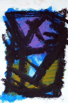 acrylic, oil pastel on watercolour paper