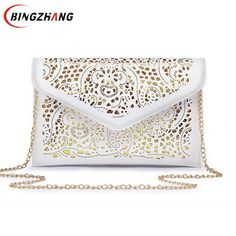 Luxury hollow out PU leather Day Clutches vintage Clutch bags brand design women bags fashion women messenger bags L4-2918