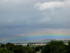 Rainbow on Lake Rotorua