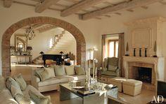 Italian Villa restored by Count Benedikt Bolza and designed by Countess Angelika.