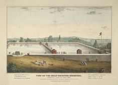 View of the great receiving reservoir. Yorkville City of New York From New York…