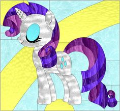 My Little Pony Stained Glass Pattern - Rarity 3 by SenatorMars