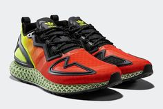 adidas ZX 4D in Yellow, Glory Red & Black - EUKICKS