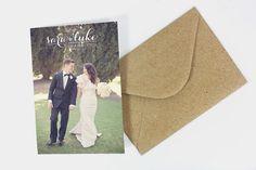 Wedding Thank You Cards Calligraphy par violaprints sur Etsy,