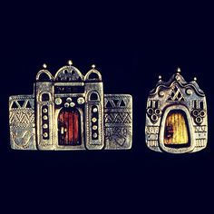 Azza Fahmy Nubian Houses Collection- Vintage- 1980's
