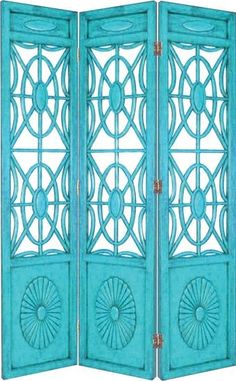 Turquoise room divider