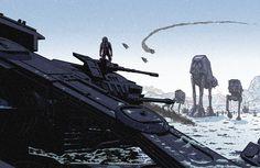 Geek-Art.net, Laurie Greasley – Star Wars : The Fall of Hoth ...