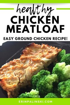 Looking for a ground chicken recipe?  Try this easy chicken meatloaf!  It's such a delicious healthy dinner recipe made with just 6 ingredients.