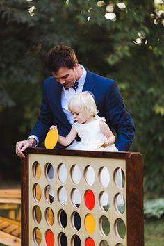 Unleash your inner child with oversized versions of classic board games, like Connect Four and Jenga.