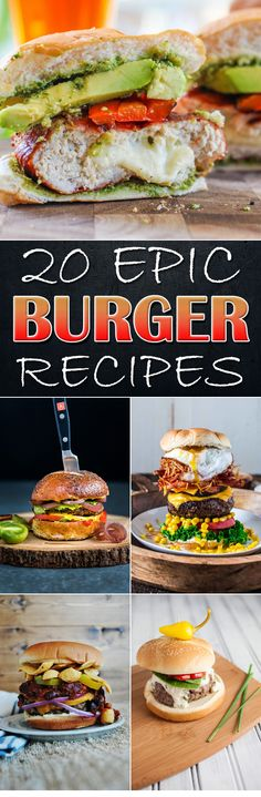 20 Epic Burger Recipes You Can Prepare By Yourself – Goodish Healthy Food Homemade Burgers, Homemade Food, Masterchef, Gourmet Burgers, Healthy Eating Tips, Healthy Nutrition, Smoking Recipes, Pub Food, Delicious Burgers