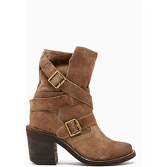 Jeffrey Campbell France Strapped Boot - Brown Suede