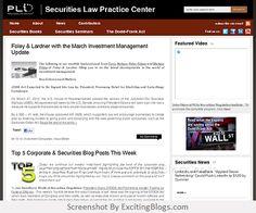 Securities Law Practice Center - PLI - Click to visit blog:  http://1.33x.us/IIpaHa