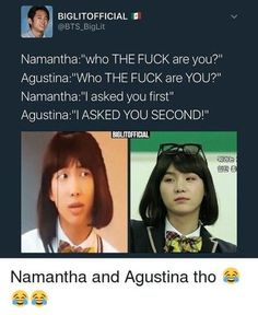"""Namjoon and Yoongi as girls """"Who the fuck are you?"""""""