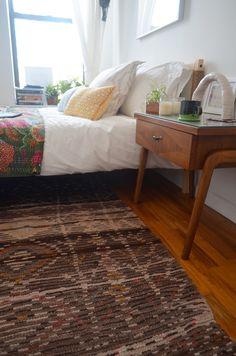 Sasha Ritter On design*sponge - quilt & boucherouite rug from shop