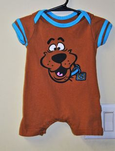 465792882591 Scooby doo boys 6-9 months romper outfit shorts spring summer dog euc